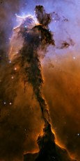heic0506b-stellar spire in the Eagle Nebulae