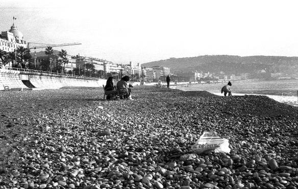 Promenade des anglais, décembre 1986, Nice, France