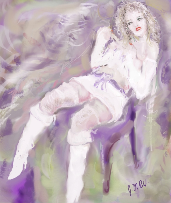 E-0009-004; modèle imaginaire/Imaginary model, 2015-06-03 Corel Painter, Photoshop et tablette/tablet, Photoshop and Corel Painter