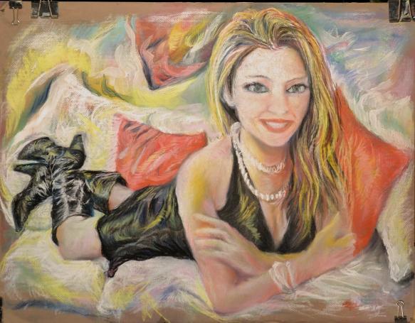 437-38-R Carla Brown, pastel/gouache, 25,5x19,5 po/in (65x50 cm); 2015-08-24