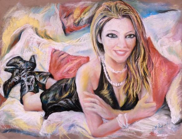 437-39-R Carla Brown, pastel/gouache, 25,5x19,5 po/in (65x50 cm); 2015-09-01
